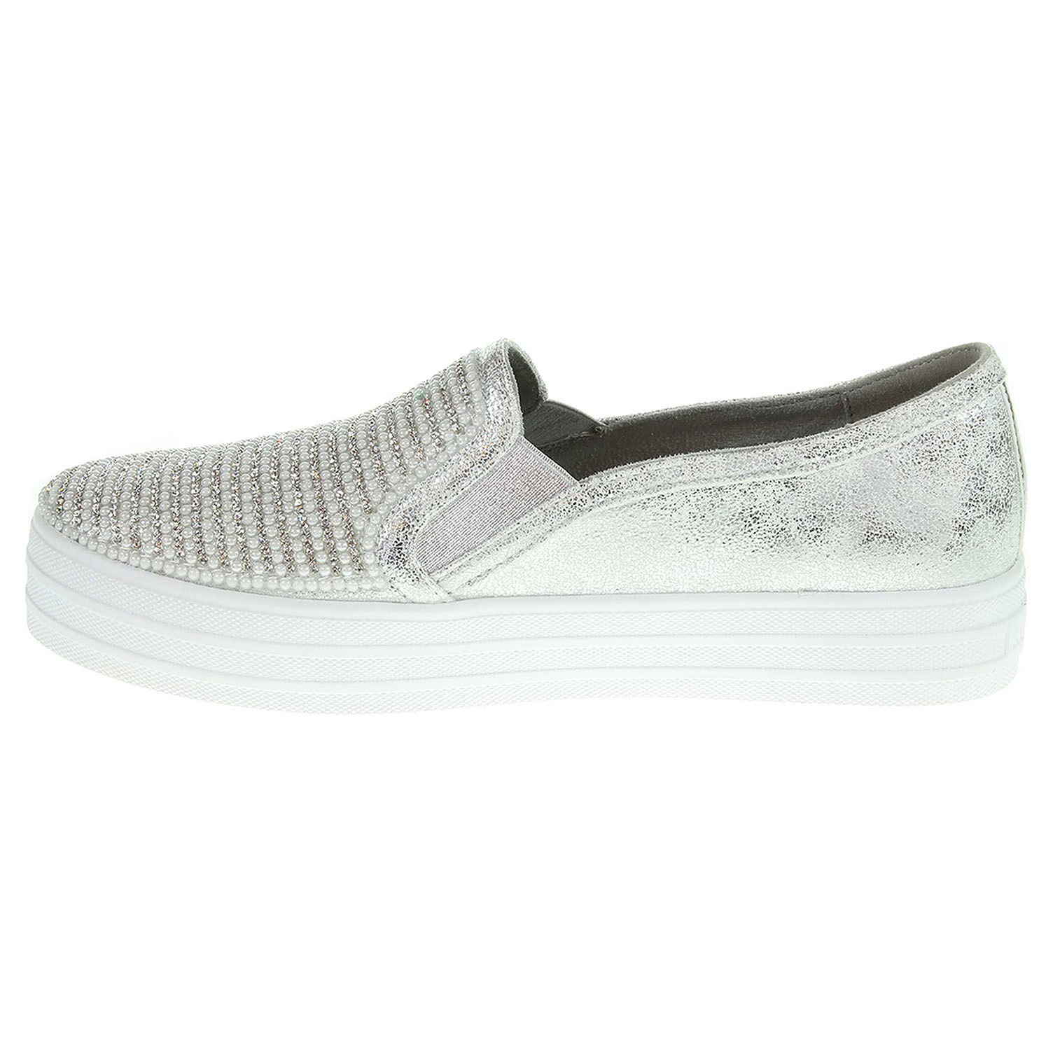 detail Skechers Double Up - Shiny Dancer silver