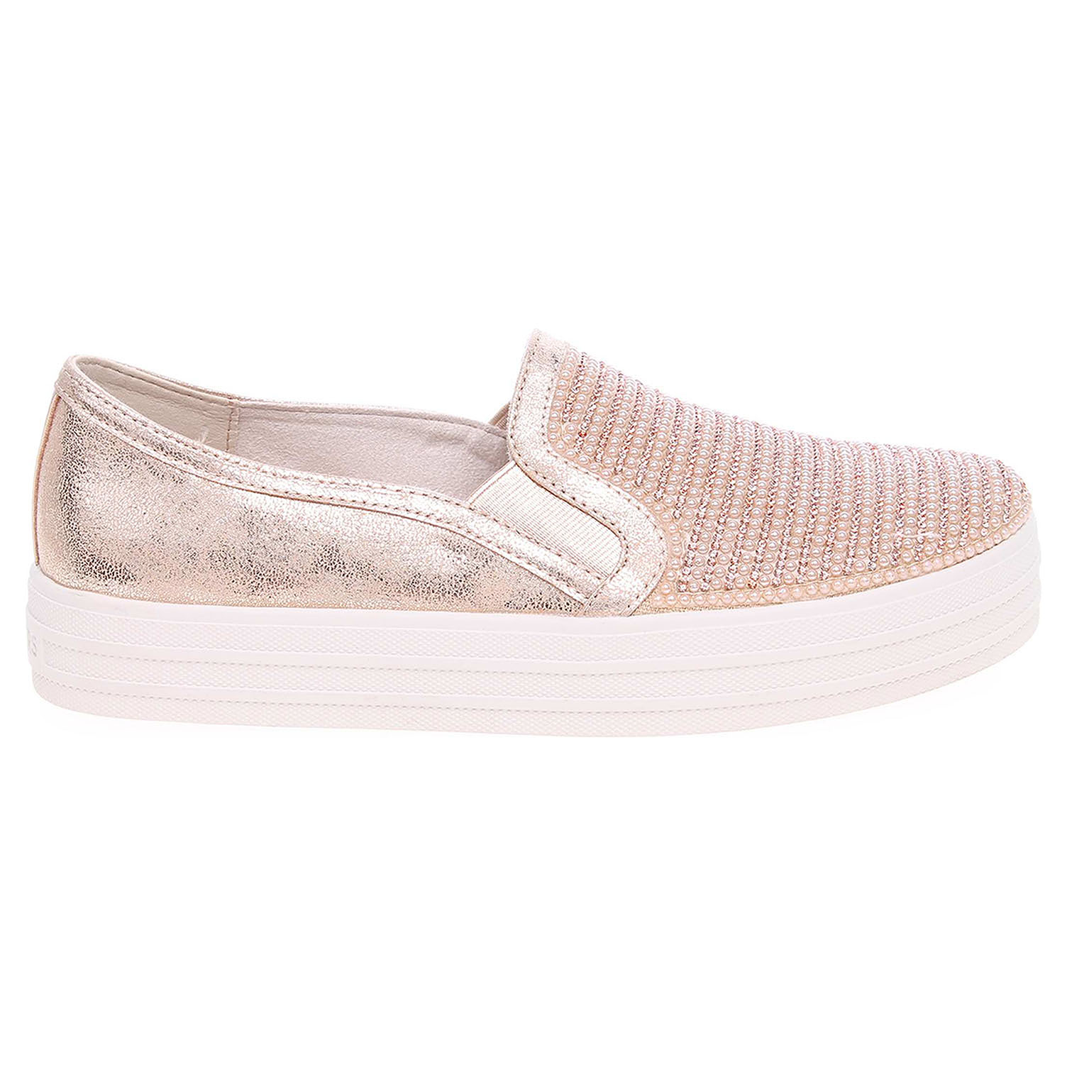 Skechers Double Up - Shiny Dancer rose gold