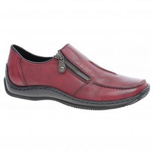 42f04763e1846 Dámské mokasiny Rieker 44264-35 vínové   Rejnok obuv