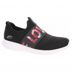Skechers Ultra Flex - Love First black-white-pink