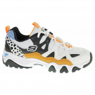 Skechers D´Lites 2.0 - Tidal Waves white-black-gold