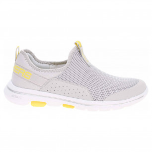Skechers Go Walk 5 - Sovereign light grey-yellow