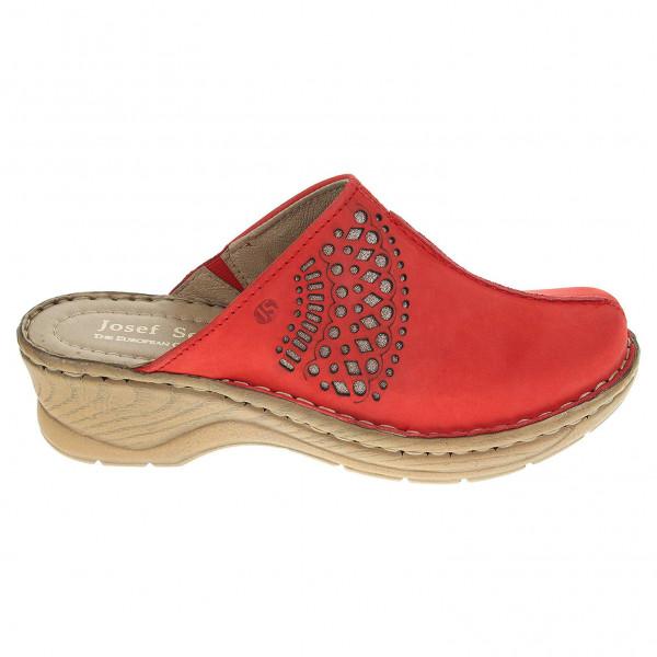 detail Josef Seibel dámské pantofle 56494 751017 červené a37c469d34
