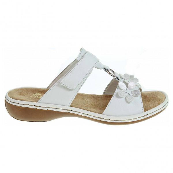 detail Rieker dámské pantofle 65998-80 weiss 02721f88175