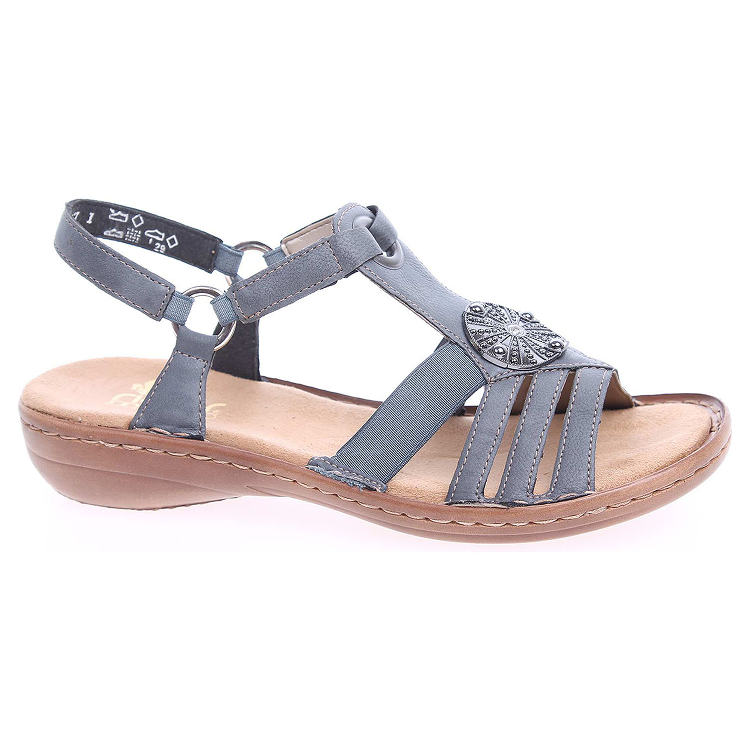4137dcfbed72 detail Dámské sandály Rieker 60869-14 blau