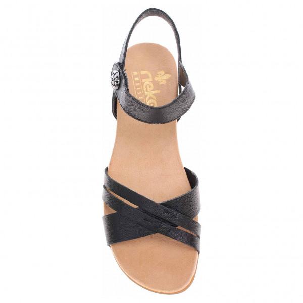 detail Rieker dámské sandály 60553-00 černé bc9d508d56