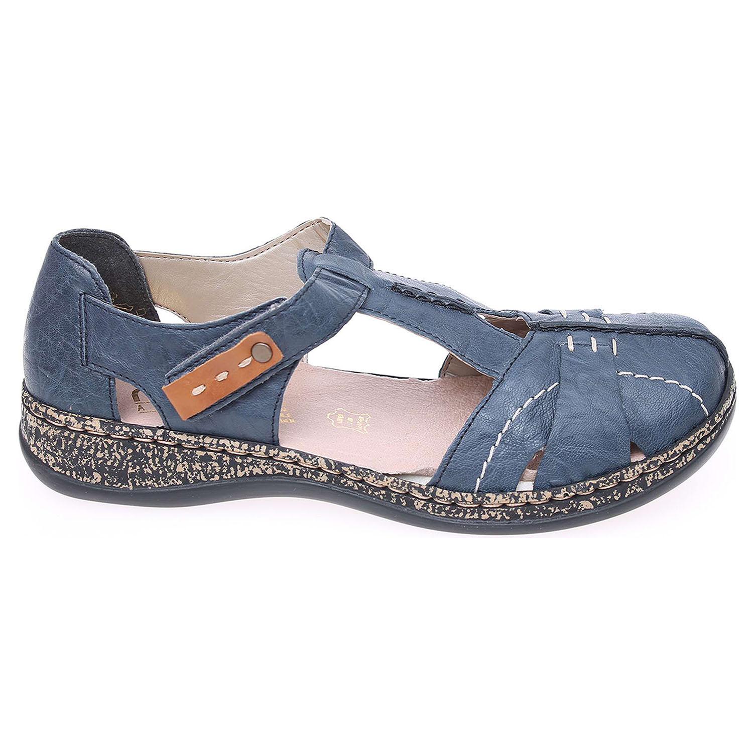 ec2be566d015c Rieker dámské sandály 46380-14 modré | Rejnok obuv