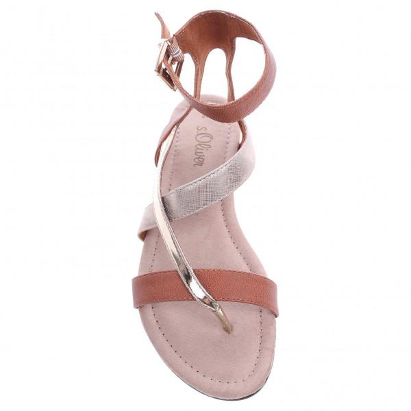 s.Oliver dámské sandály 5-28106-26 hnědá-zlatá  3f59b4ab6c