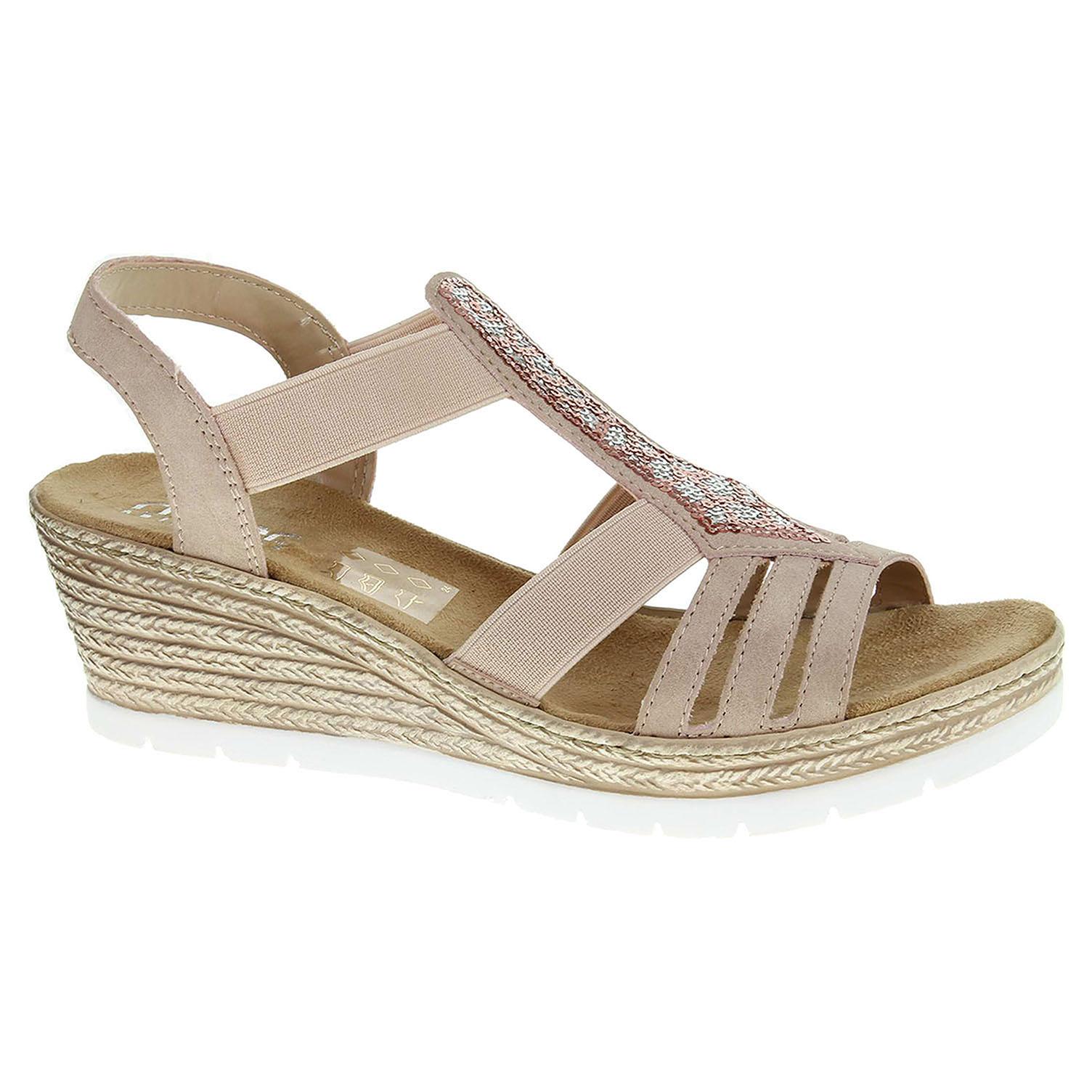 089de0b53d868 Dámské sandály Rieker 61913-31 rosa | Rejnok obuv