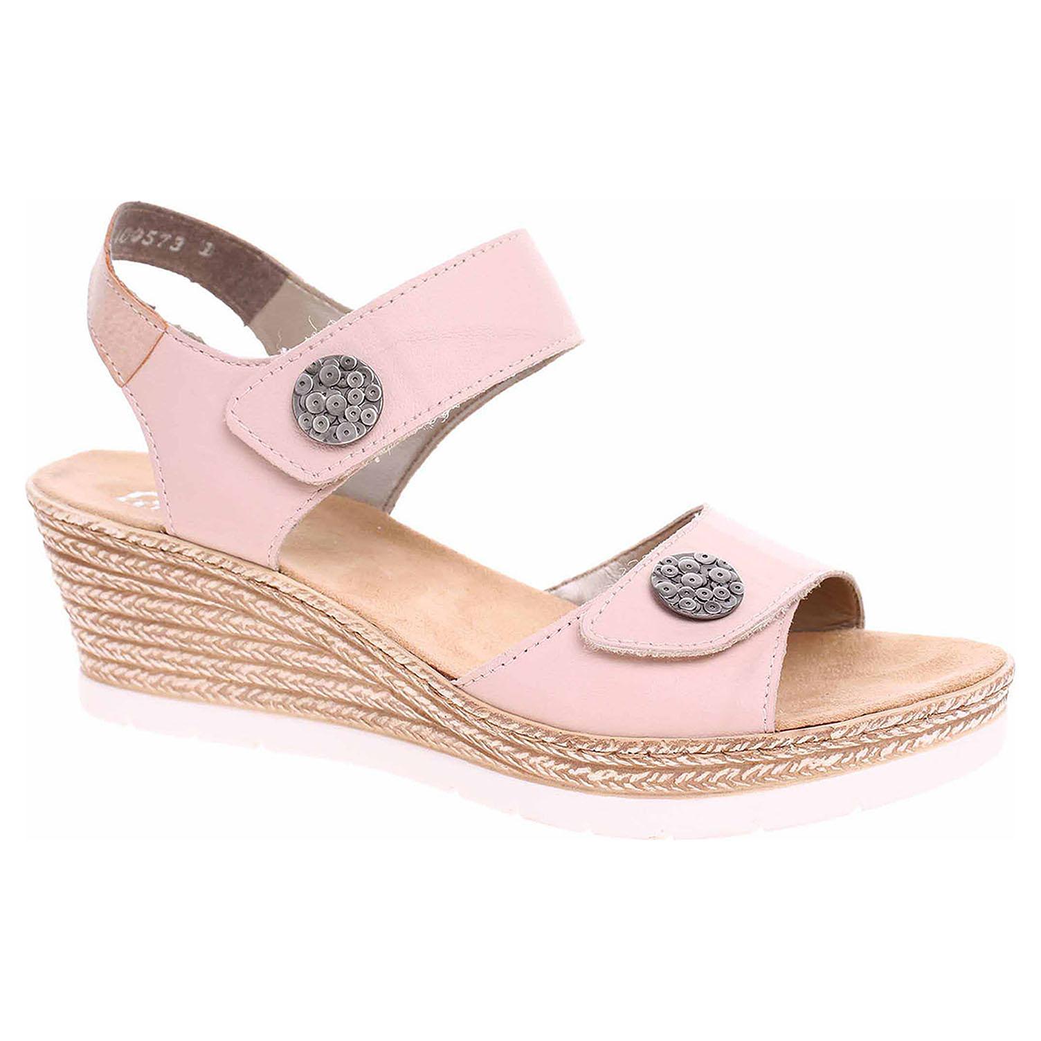 bb6f2790540cc Dámské sandály Rieker 619B9-31 rosa | Rejnok obuv