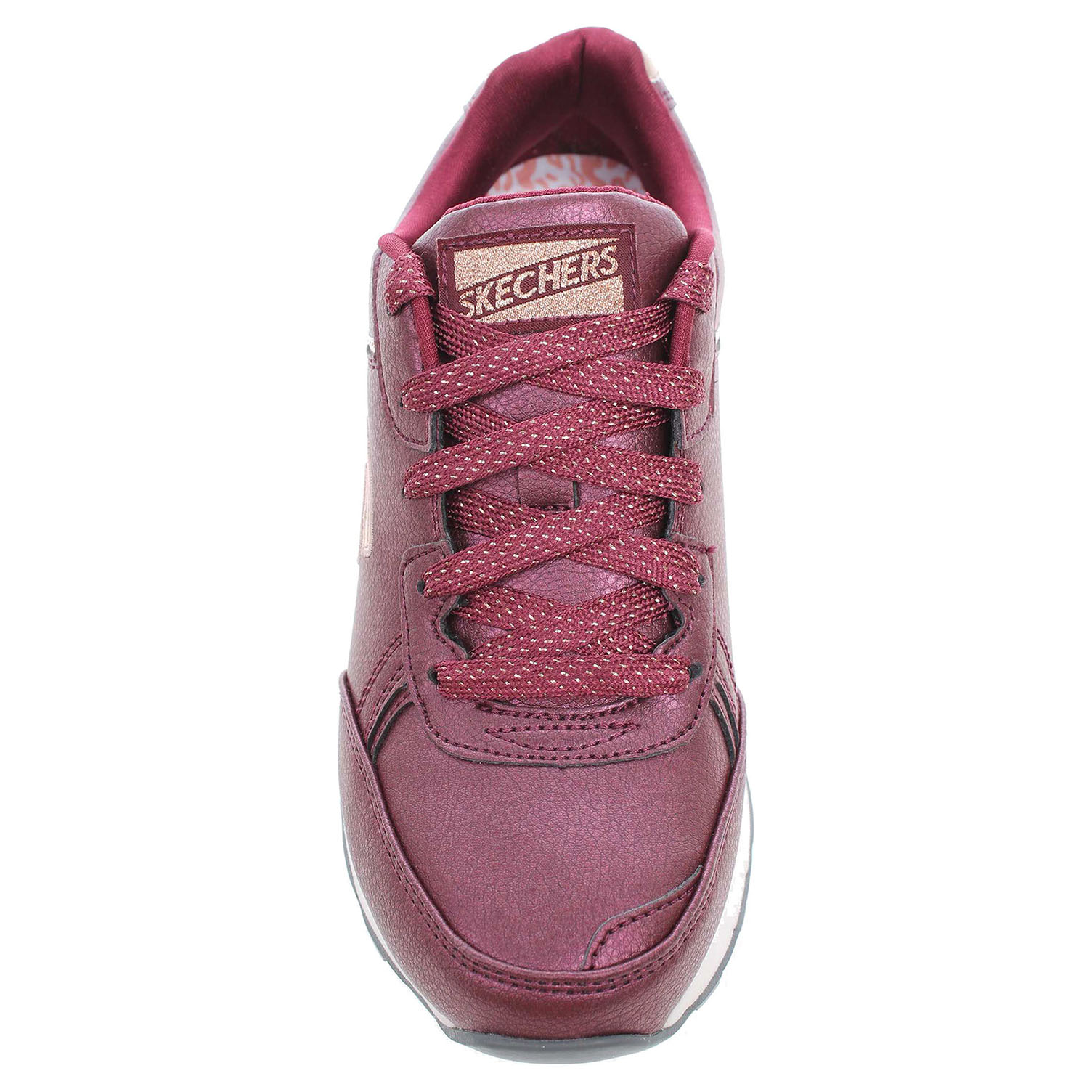detail Skechers Shimmers burgundy