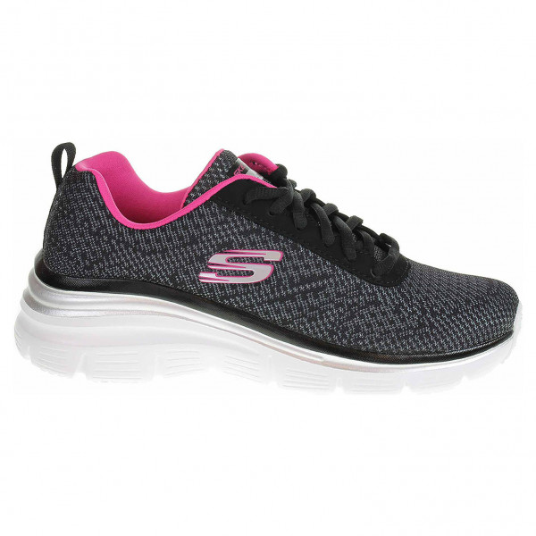 detail Skechers Fashion Fit - Bold Boundaries black-hot pink
