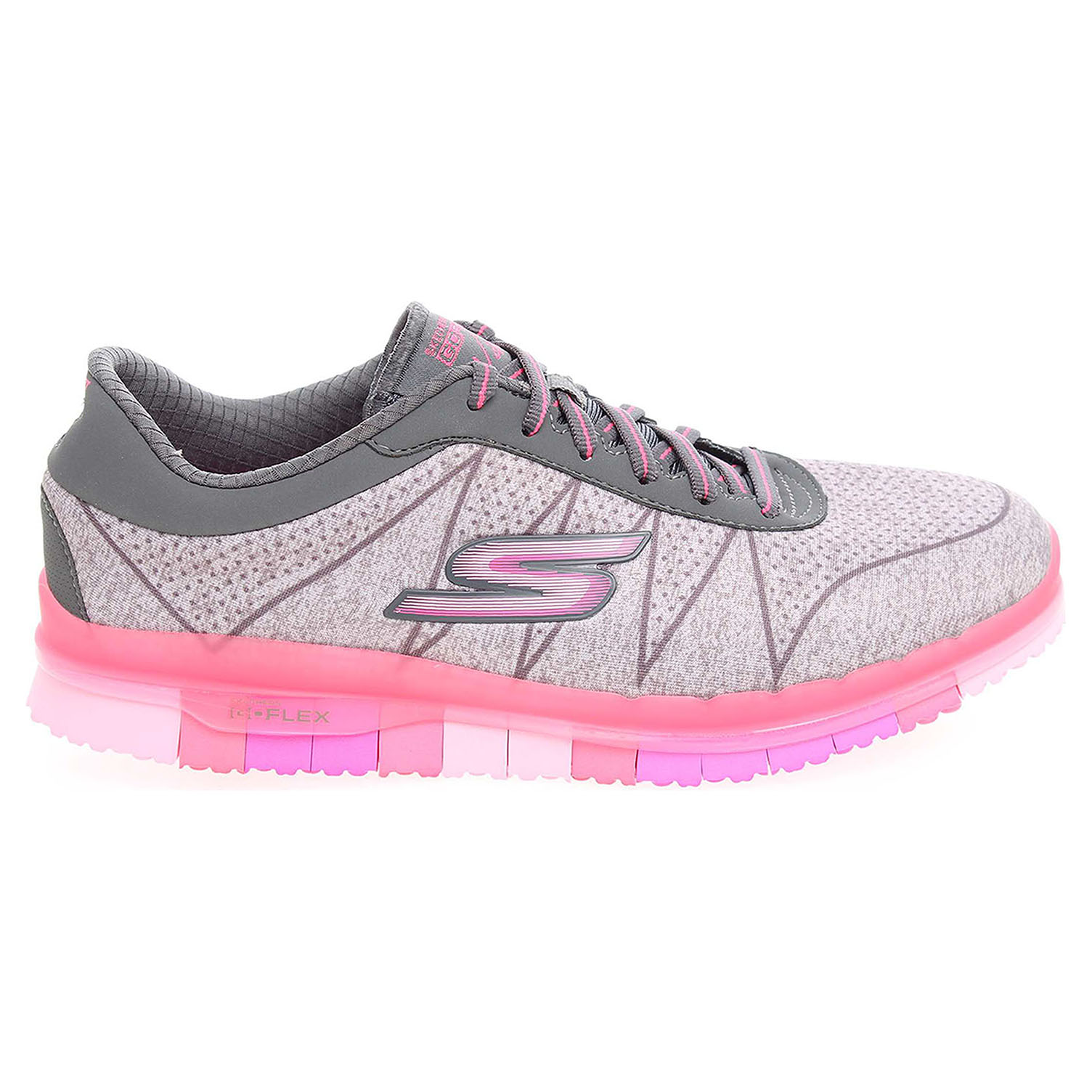 Skechers Go Flex Ability gray-hot pink