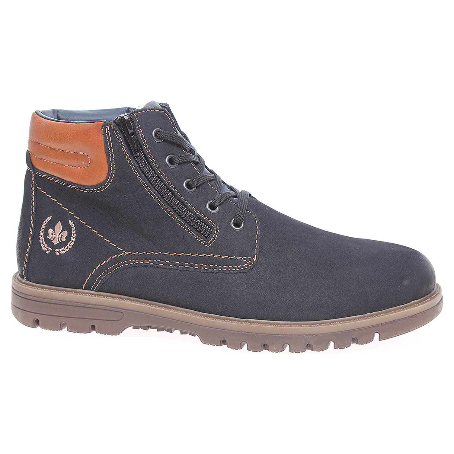 2f8e7fdad5be0 Pánská kotníková obuv Rieker F3121-14 modré | Rejnok obuv