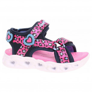 Skechers S Lights - Heart Lights Sandals - Sawy Cat hot pink-blue