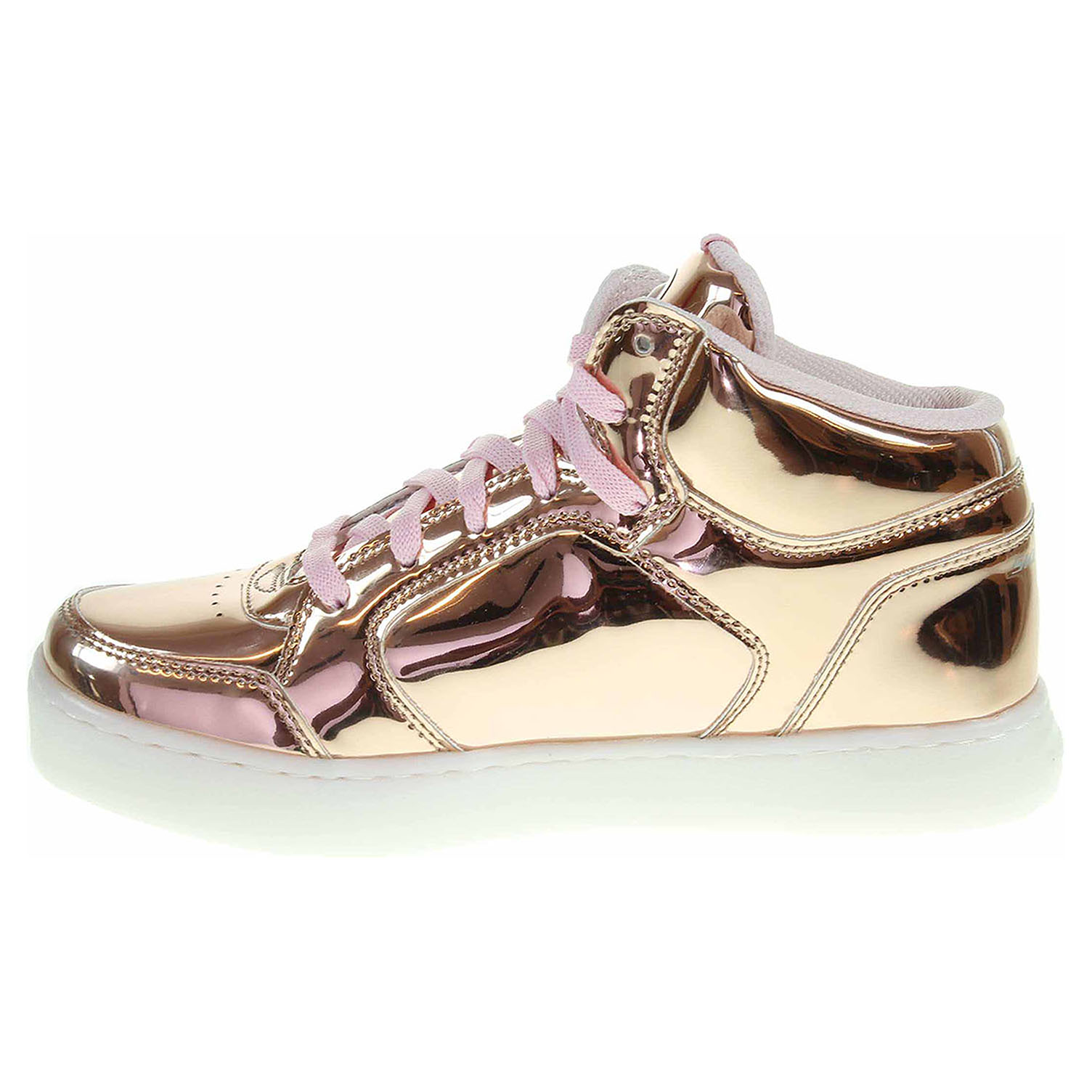 detail Skechers S Lights Energy Lights Dance-N-Dazzle rose gold