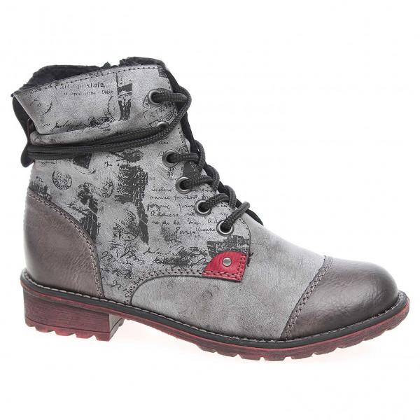448f071405e8 detail Dívčí kotníková obuv Rieker K3457-45 šedé