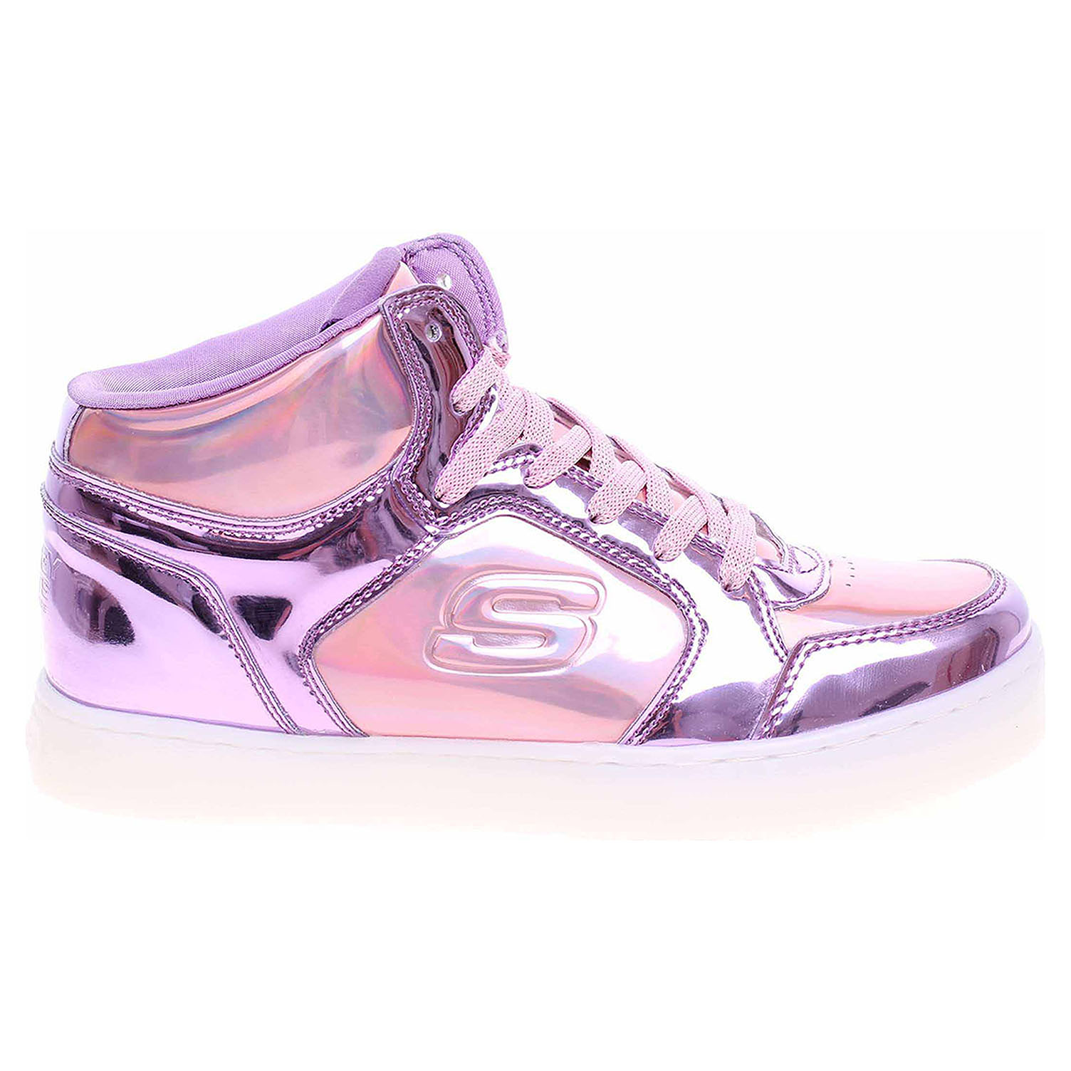 detail Skechers S Lights-Energy Lights - Shiny Brights pink-purple