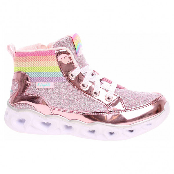 detail Skechers S Lights-Heart Lights - Rainbow Diva pink