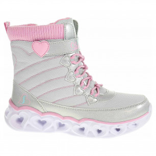 Skechers S Lights-Heart Lights- Heart Chaser gray-pink