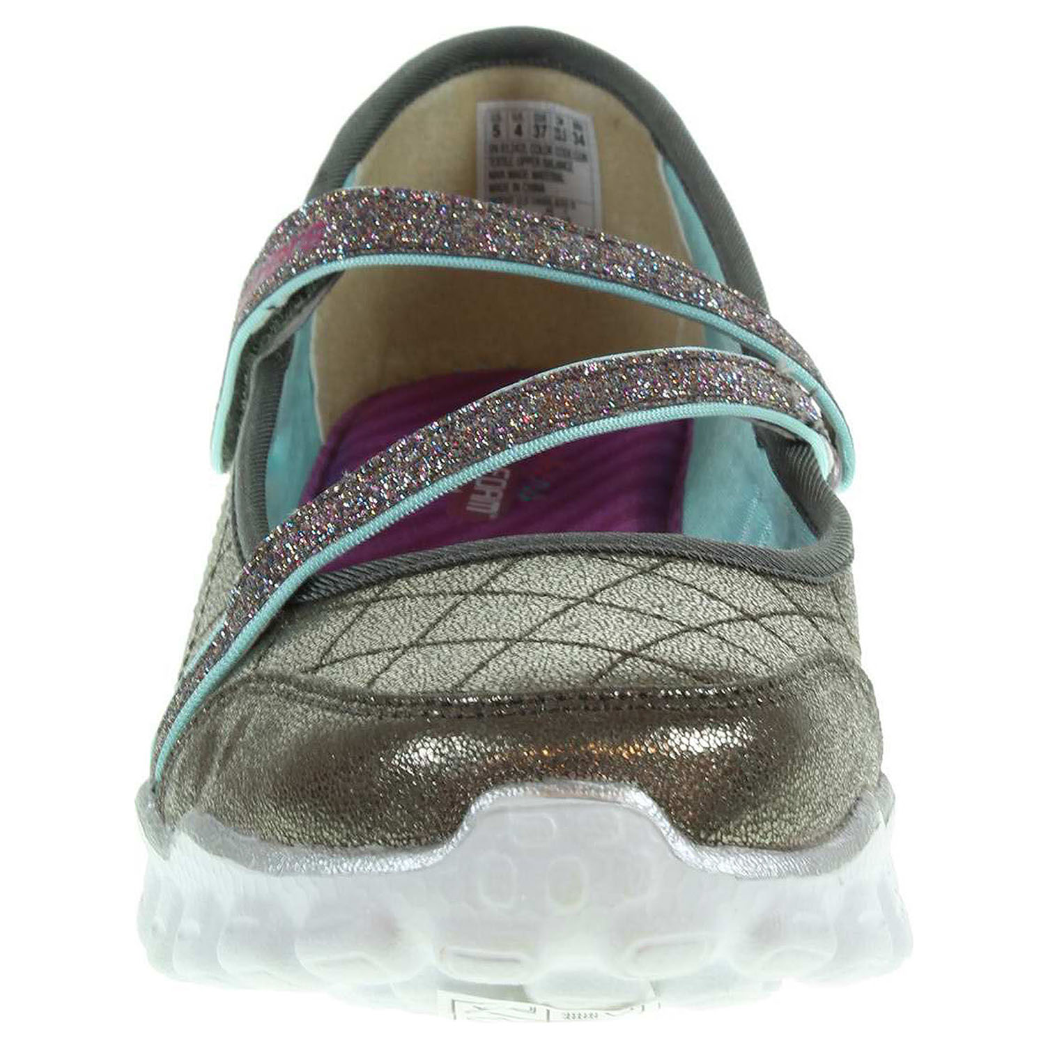 detail Skechers Skech Flex II - Shine-N-Chic gun metal
