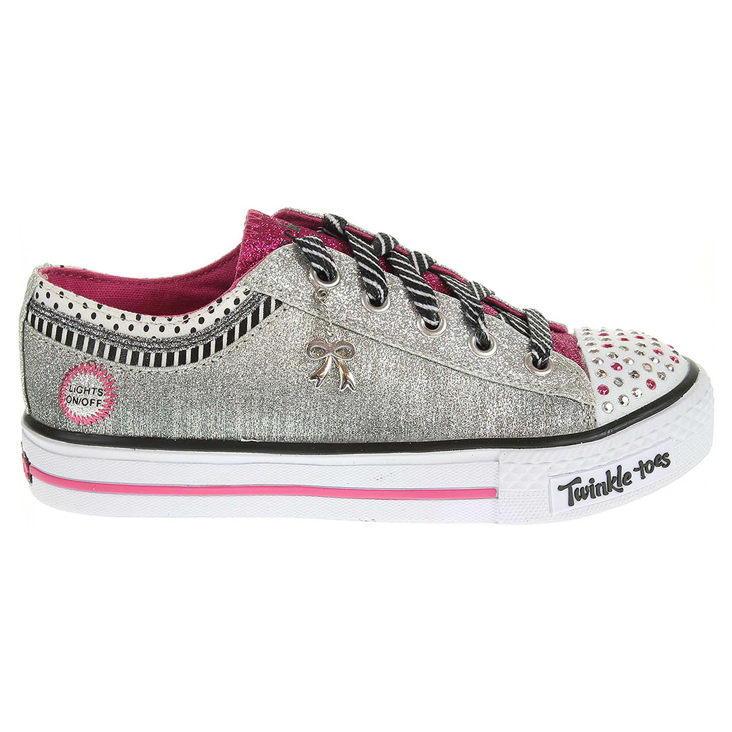 Skechers Charmingly Chic silver-hot pink