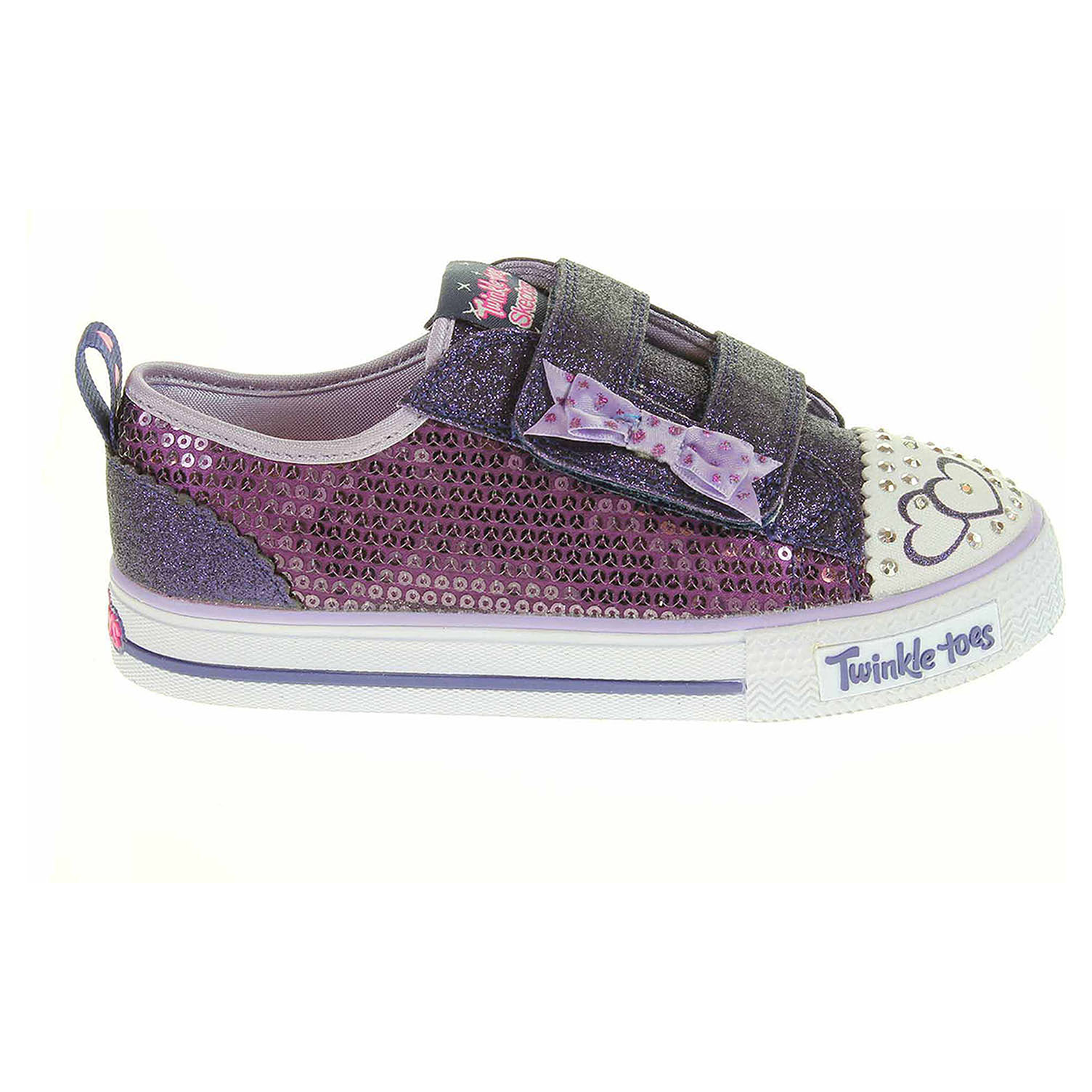 detail Skechers S Lights-Shuffles - Itsy Bitsy purple-blue