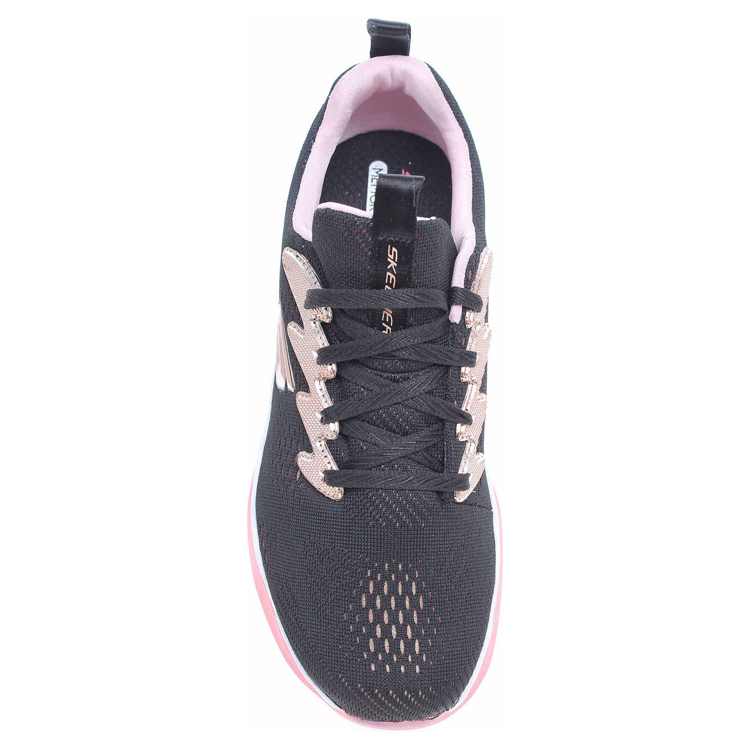 detail Skechers Sparkle Racer black-rose gold