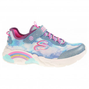 Skechers S Lights - Rainbow Racer blue