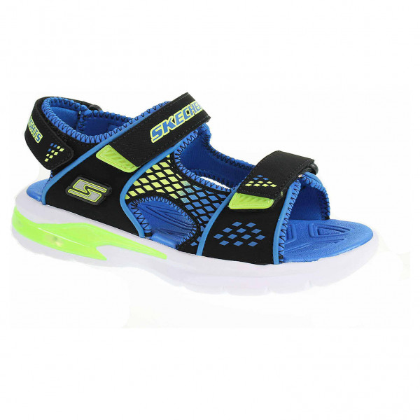 detail Skechers S Lights-E-II Sandal - Beach Glower blk-blue-lime