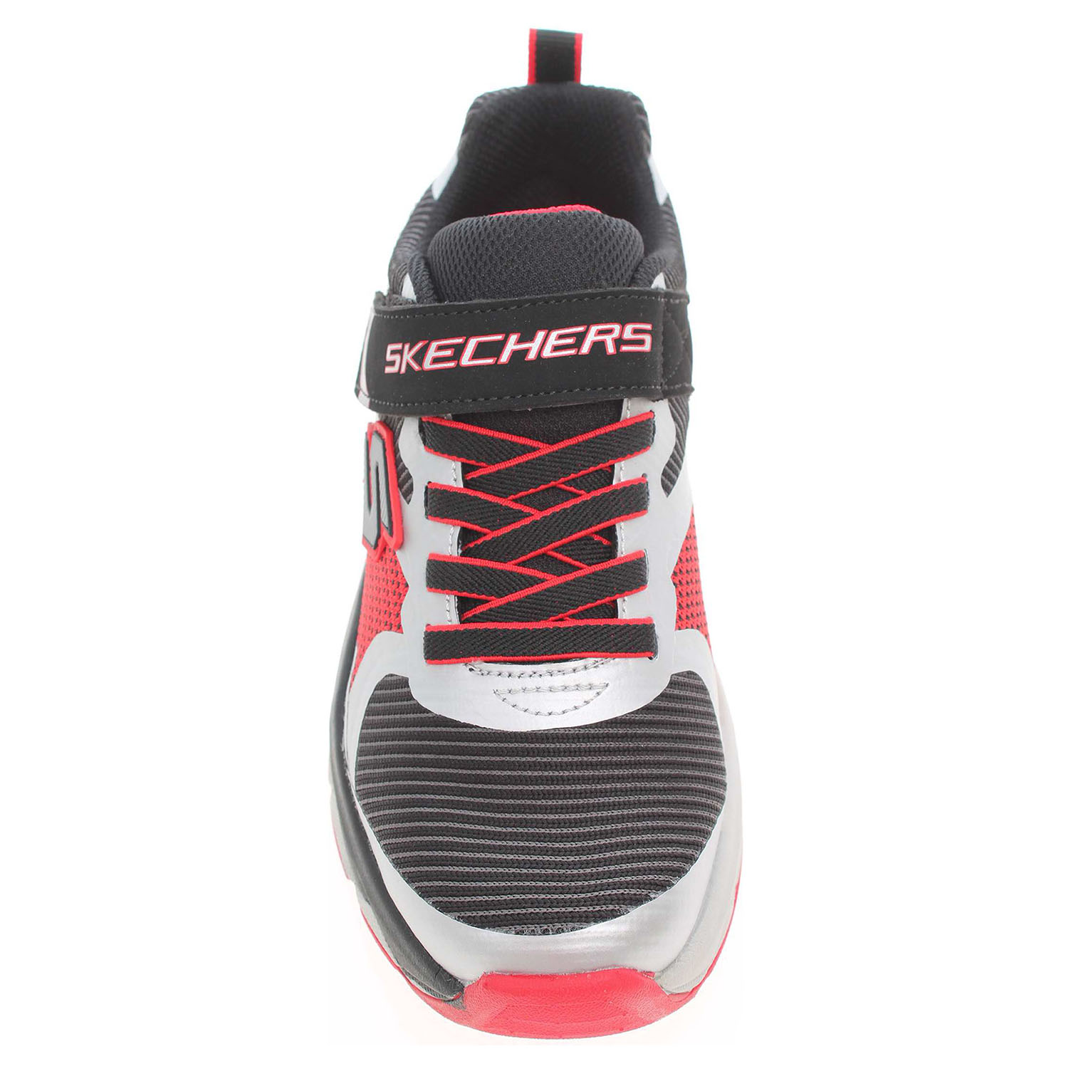 detail Skechers Zipperz - Perplex black-silver-red