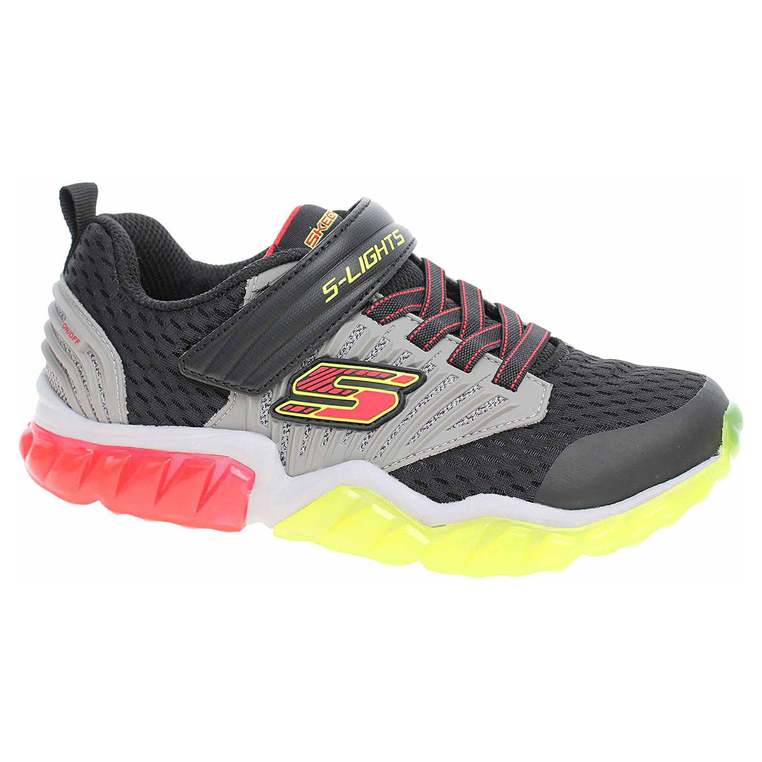 Skechers S Lights - Rapid Flash black-grey-red