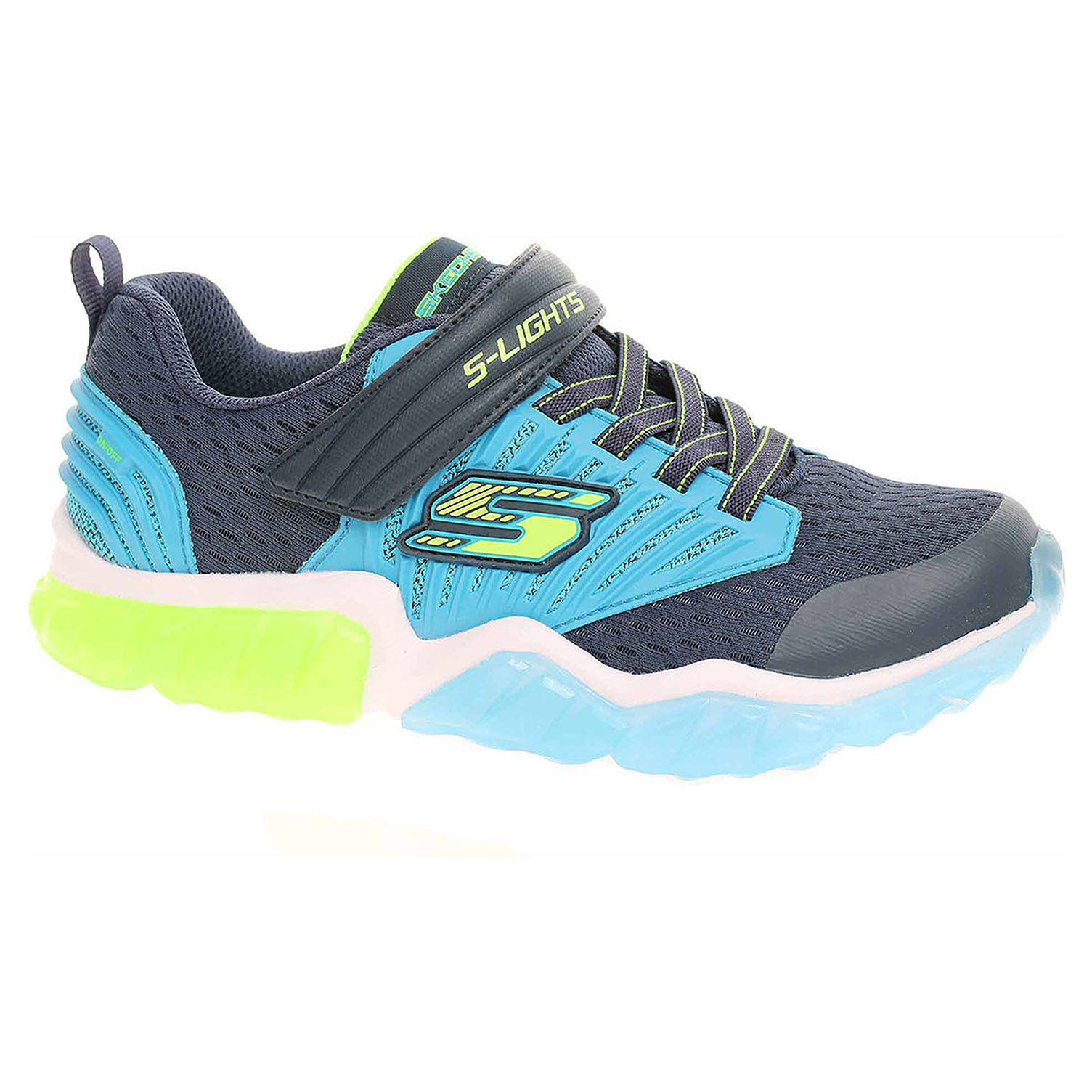 detail Skechers S Lights - Rapid Flash navy-blue